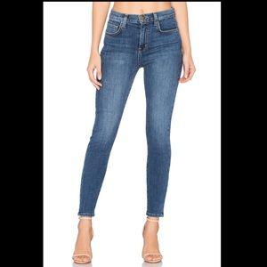 Current Elliott 27 super high waist stiletto jeans